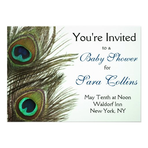 125 peacock baby invitations peacock baby announcements invites
