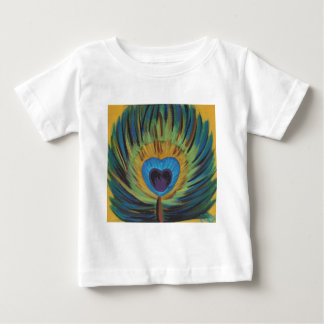 Peacock Feather Baby T-Shirt