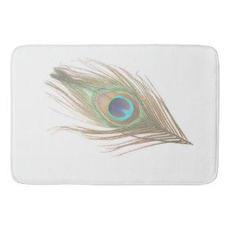 Peacock Feather Bathroom Mat