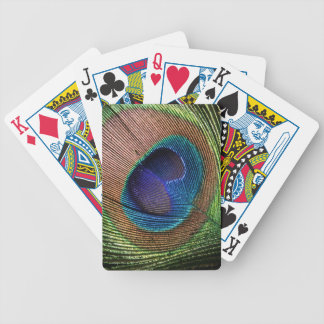 Peacock feather beautiful photo blue deck cards bicycle playing cards