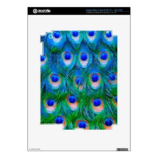 Peacock Feather Blue iPad 3 Decal