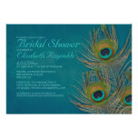 Peacock Feather Bridal Shower Invitations Custom Announcement