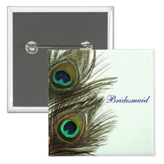 Peacock Feather Bridesmaid Pin