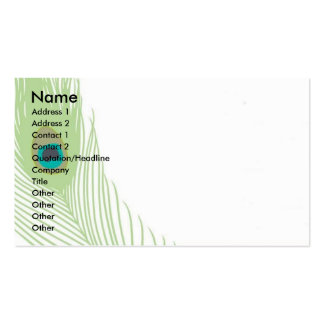 Peacock Feather Business Card Templates