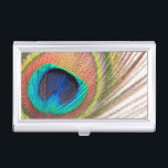 """Peacock Feather Business Card Holder<br><div class=""""desc"""">Peacock Feather</div>"""