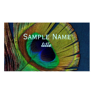 peacock feather business card template photo art
