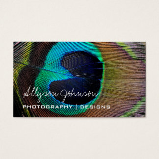 Peacock Feather Business Cards