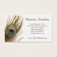 Peacock Feather Business Cards at Zazzle