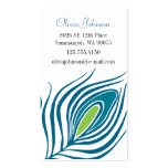 Peacock Feather Calling Card Double-Sided Standard Business Cards (Pack Of 100)