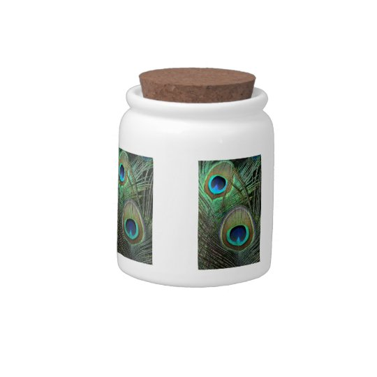 Peacock Feather Candy Jar