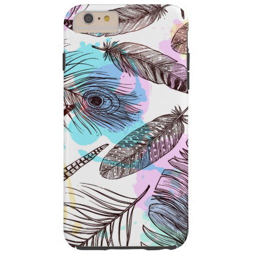 Peacock Feather Tough iPhone 6 Plus Case
