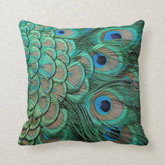 peacock feather cases pillow
