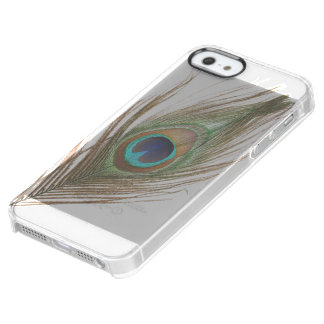 Peacock Feather Clear iPhone SE/5/5s Case
