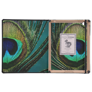 Peacock Feather Colorful Elegant Classy Chic Photo Covers For iPad
