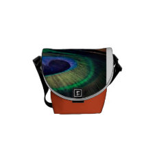 Peacock Feather Courier Bag