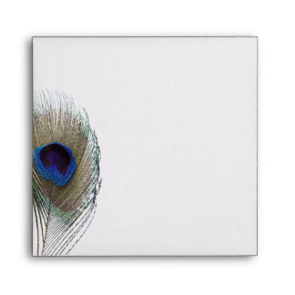 Peacock Feather Custom Wedding Envelope