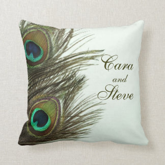 Peacock Feather Customizable Pillow