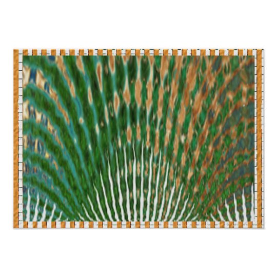 Peacock Feather Dance Poster
