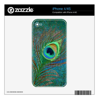 Peacock feather decorative elegant iPhone skins Skins For The iPhone 4