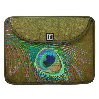 Peacock feather decorative green MacBook Sleeves
