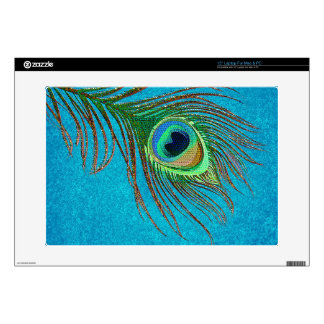 Peacock feather decorative Laptop skins