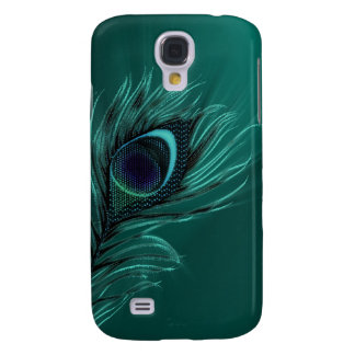 Peacock feather decorative  samsung galaxy s4 cover