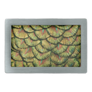 Peacock Feather Design Belt Buckle