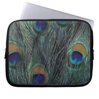 Peacock feather design computer sleeve