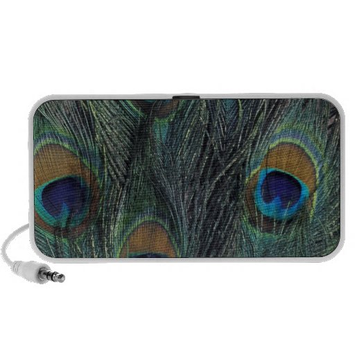 Peacock feather design mp3 speakers