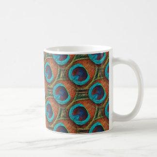 Peacock Feather Design Mug
