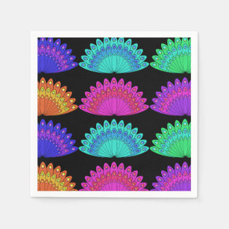 Peacock Feather Design Paper Napkins
