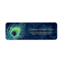 Peacock Feather Design Return Address Labels