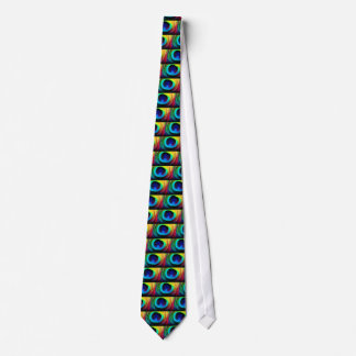 Peacock Feather Design Tie