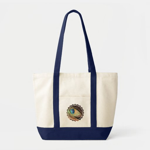 Peacock Feather Designs Canvas Tote Bag