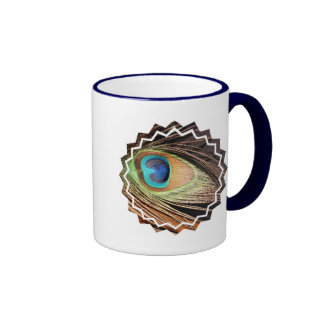 Peacock Feather Designs Coffee Mug