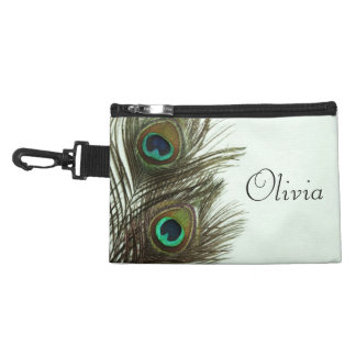 Peacock Feather Diaper Bag Pacifier Holder
