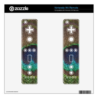 peacock feather ( digital image ) wii remote skin