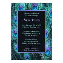 Peacock Feather Drama - Bridal Shower Card