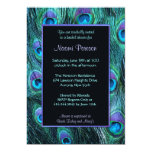 Peacock Feather Drama - Bridal Shower 5x7 Paper Invitation Card