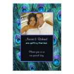 Peacock Feather Drama - Photo Wedding Invitation Personalized Announcements