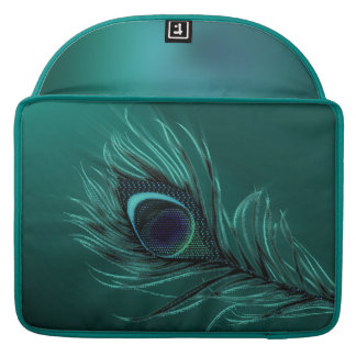 Peacock feather elegant MacBook Sleeves