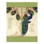 Peacock & Feather Elegant Matching Wedding Program Full Color Flyer
