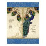 Peacock & Feather Elegant Matching Wedding Program Custom Flyer