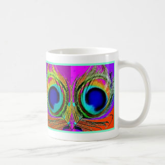 Peacock Feather Eyes by SHARLES Coffee Mug
