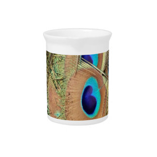 Peacock Feather Face Pitcher