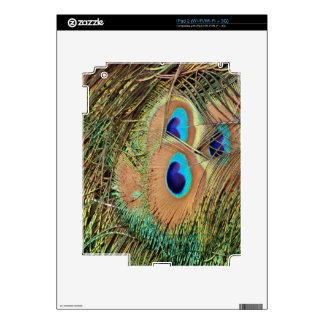 Peacock Feather Face Skin For iPad 2