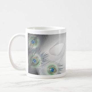 Peacock Feather Fantasy Basic White Mug