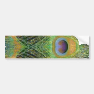 Peacock Feather - Fish Shaped Digitally Bumper Stickers
