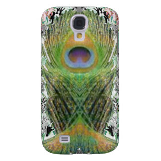 Peacock Feather - Fish Shaped Digitally Samsung Galaxy S4 Cover