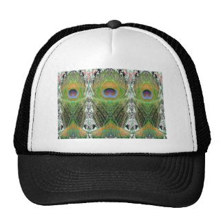 Peacock Feather - Fish Shaped Digitally Trucker Hat